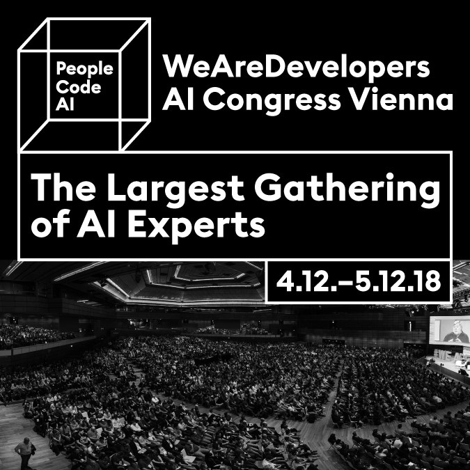 20181017 News - Event HATAHET ale Event Partner des WeAreDevelopers AI Congress in Wien - Newsbild HP Startseite 675 x 675 (News Image)