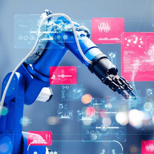 Roboterarm blau